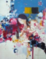 Abstract couples on canvas by Halaburda 2012
