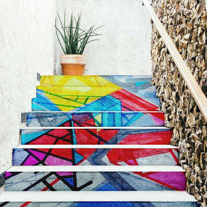 Outdoor painted stairs