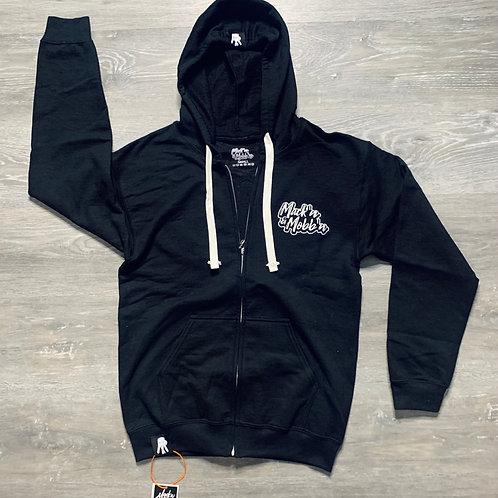 Unisex Mack'n & Mobb'n Black Zip-Up Hoodie w/ XL Chenille Patch