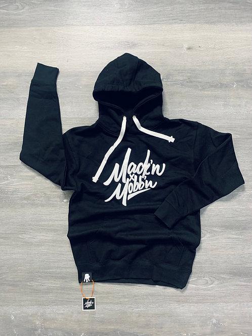 Unisex Mack'n & Mobb'n Black Hoodie w/ White Logo