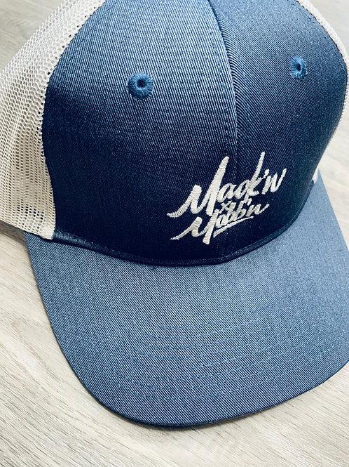 Mack'n & Mobb'n Navy Blue & White Trucker Snapback