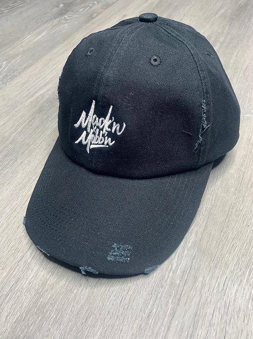 Distressed Black Mack'n & Mobb'n Dad Hat