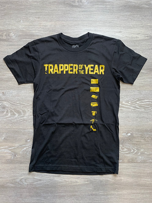 Unisex Trapper of The Year Black Tee