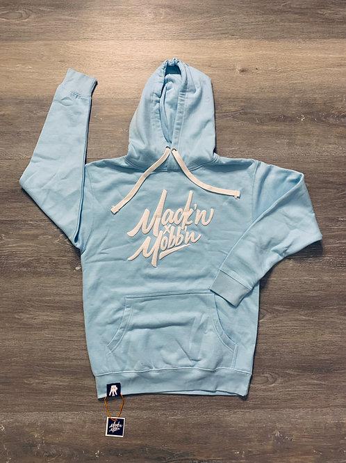 Unisex Mack'n & Mobb'n Sky Blue Hoodie w/ White Logo