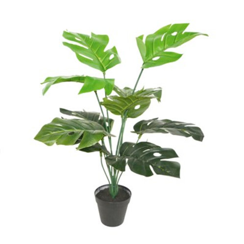 "28"" x 5"" x 5"" Fake Potted Philodendron Plant"