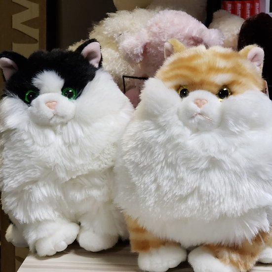 Stuffed Cats - Black and White or Orange and White