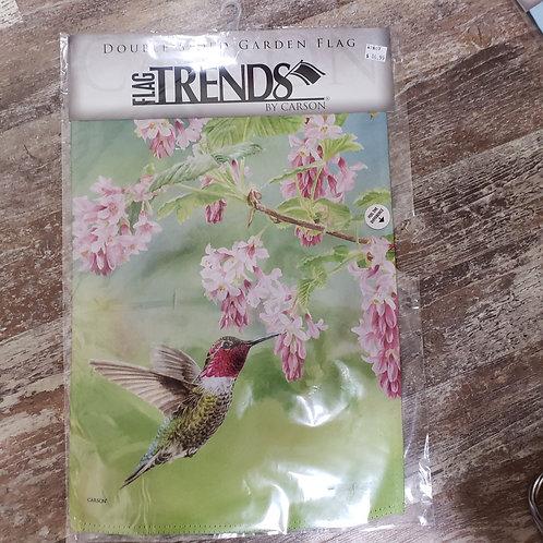 Garden Flag - Hummingbird