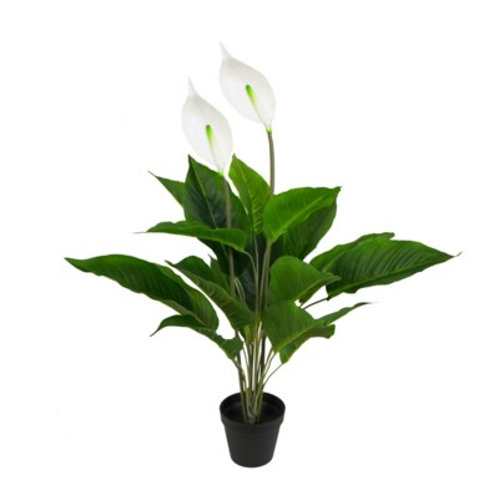 """28"""" x 5"""" x 5"""" Fake Potted Spathiphyllum Plant"""