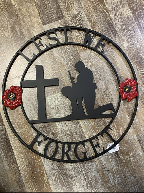 Metal Circle -Lest We Forget