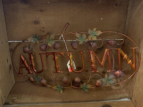 Metal Autumn Sign