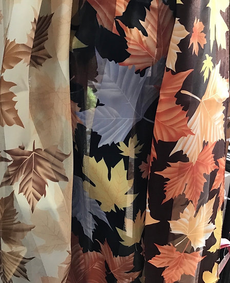 Oblong Maple Leaf Scarf - 3 colours