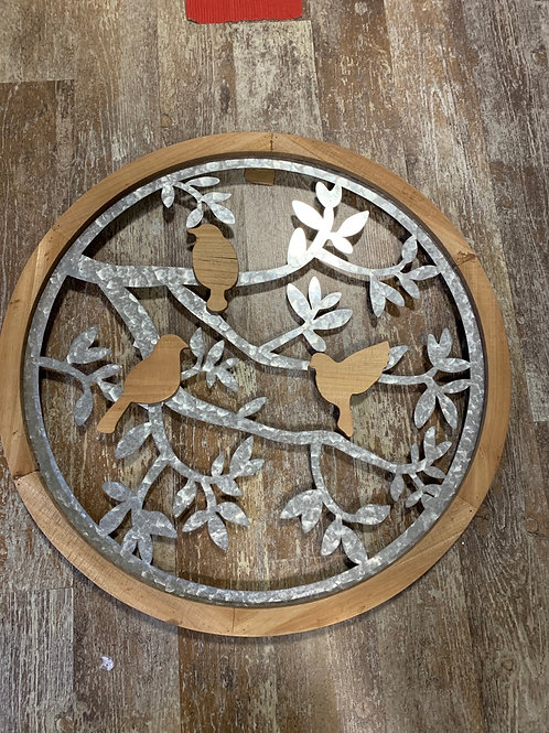 Metal and Wood Sign