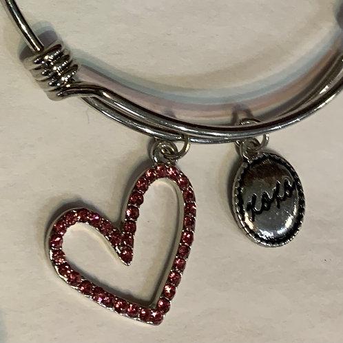 Ladies Adjustable Bracelet-Silver