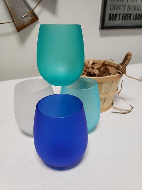 4 pc Acrylic Wine Glass Set