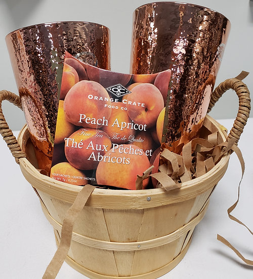 Gift Basket - Copper Glasses with Tea