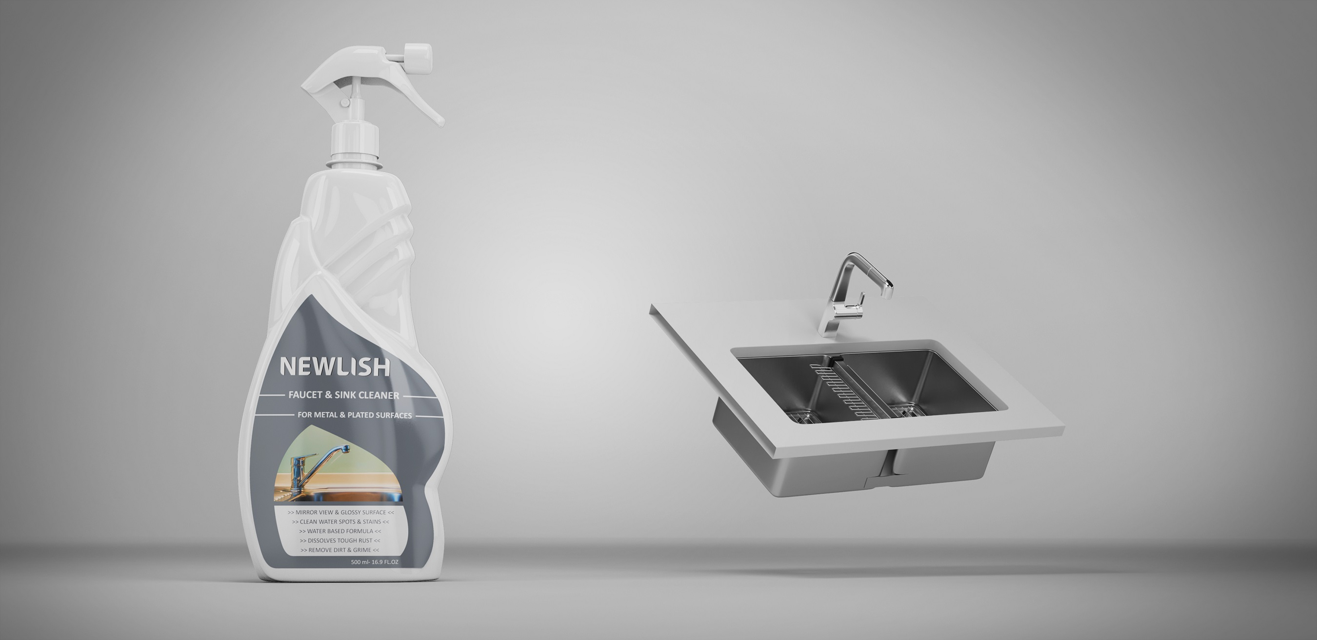 NEWLISH Faucet and Sink Cleaner