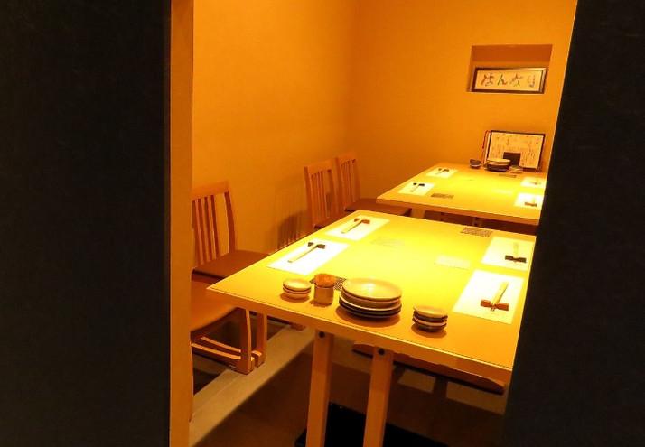 【個室】テーブル席