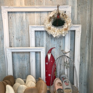 玄関のクリスマス装飾