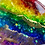 Thumbnail: Titmouse - Sea Glass Make-up Mixing Palette - Rainbow