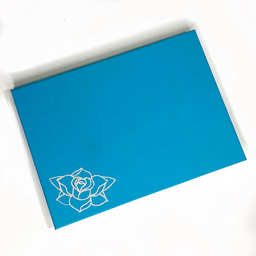 The Pastel Roses x RATART - Magnetic palette with mirror - Light Blue