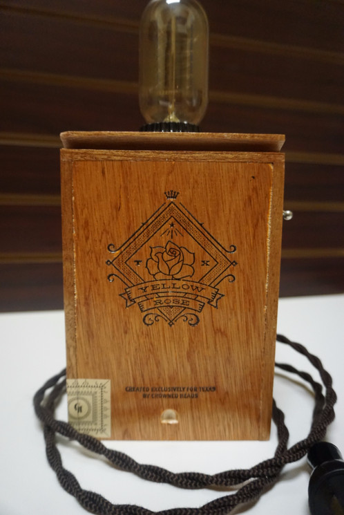 Yellow Rose Cigar Box Lamp