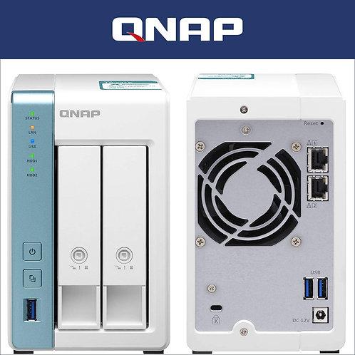 QNAP NAS de Nube Personal de 2 bahías de para Copia de Seguridad y Uso compartid