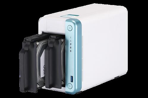 QNAP TS-251D-2G 2 Bay Home NAS con CPU Intel® Celeron® J4005 y un Puerto de 1 Gb