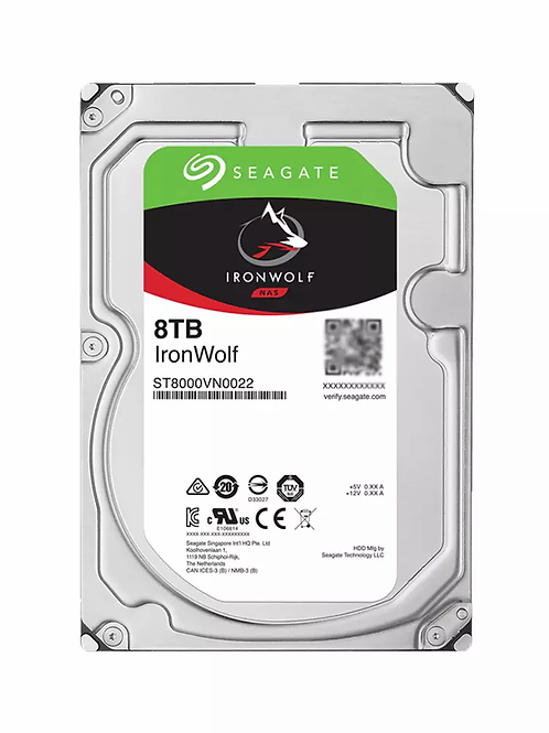 Disco Duro para NAS Seagate IronWolf 3.5'', 8TB, SATA III, 6 Gbit/s, 7200RPM, 25