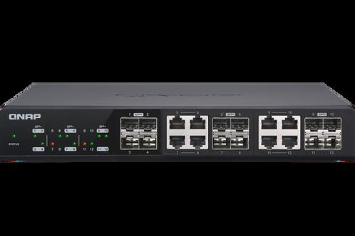 QNAP QSW-M1208-8C 10GbE Conmutador administrado, con 8 puertos 10GbE SFP+/RJ45 C