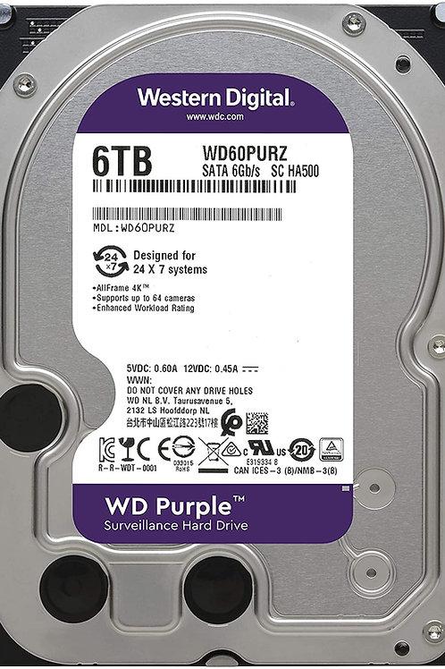 Disco Duro para Videovigilancia Western Digital WD Purple 3.5'', 6TB, SATA III,