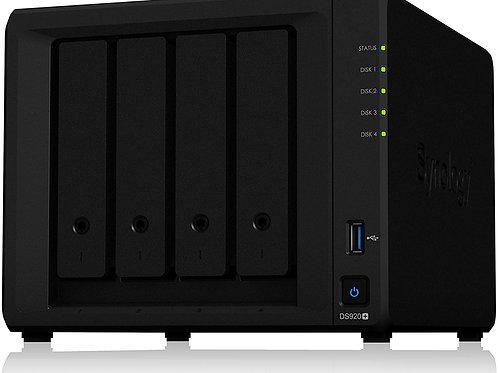 Synology DiskStation NAS de 4 Bahías, máx. 64TB, Intel Celeron J4125 2GHz, USB 3