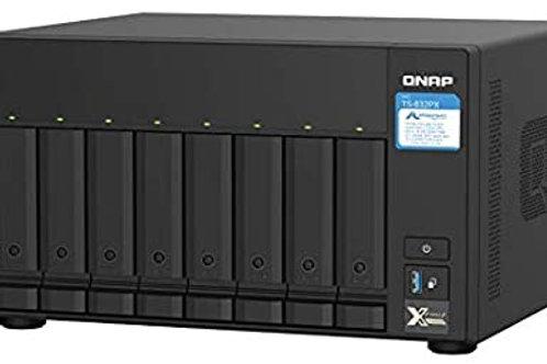 NAS de alta capacidad de 8 bahías TS-832PX-4G de QNAP con 10GbE SFP+ y 2,5GbE
