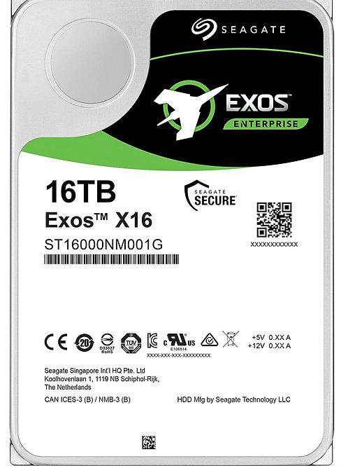 "Disco Duro para Servidor Seagate Exos X16 16TB SATA III 7200RPM 3.5"" 6Gbit/s"