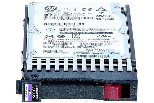 Disco Duro para Servidor HPE 900GB 6G SAS Hot Plug 10.000RPM SFF 2.5'', Enterpri