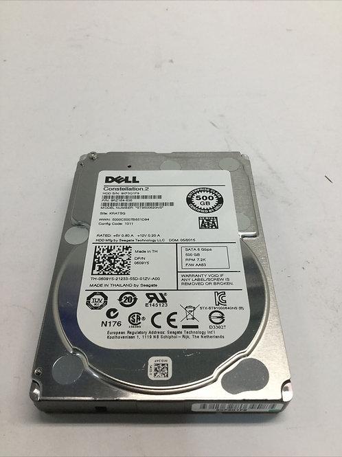 """Dell 500GB 7.2K disco duro SATA de 6 Gbps 2.5"""""""