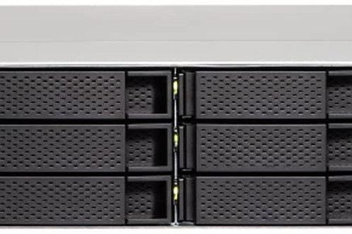 QNAP TS-1263XU-RP-4G-US 2U 12-Bay AMD 64bit x86-based NAS and iSCSI/IP-SAN, Quad