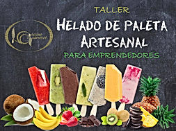 CARTEL TALLER DE HELADO DE PALETA ARTESA