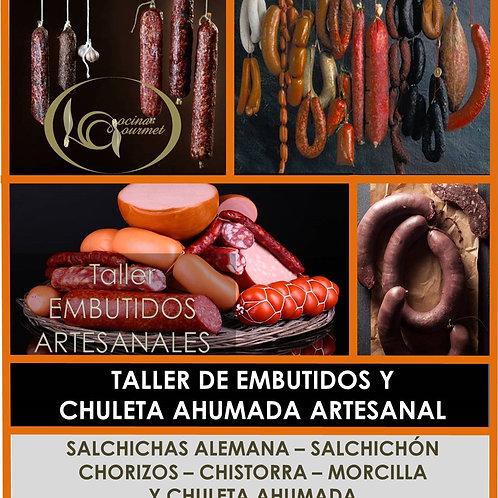 Cartel del taller Embutidos Artesanales Cocina Gourmet