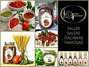 TALLER SALSAS ITALIANAS ARTESANALES