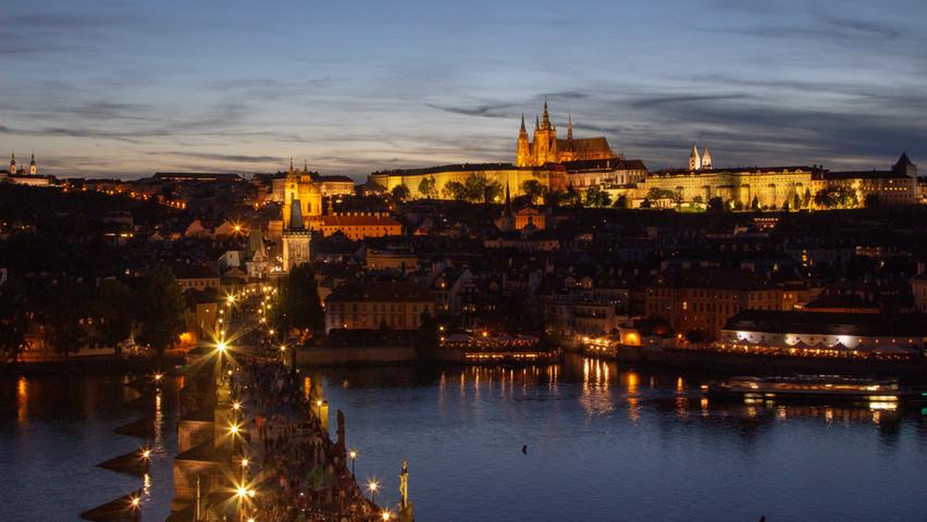 Prague Castle, St. Vitus Cathedral & Charles Bridge, Prague, Czech Republic