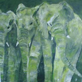 Elephants olivegreen