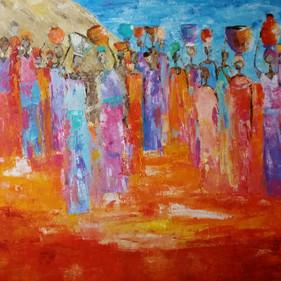 African Women 6 /SOLD                                            Verkocht