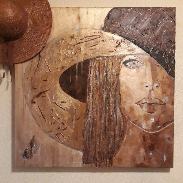 Woman with hat/Sold