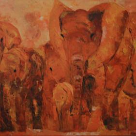 Elephants  4/SOLD