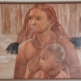 Himbawoman with child