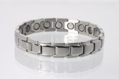 Magnetarmband silberfarben mit extra-starken Magneten (breit)