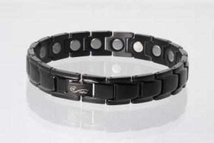 Magnetarmband schwarz mit extra-starken Magneten (breit)