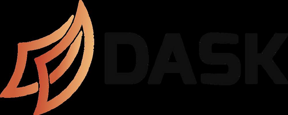 Dask horizontal logo