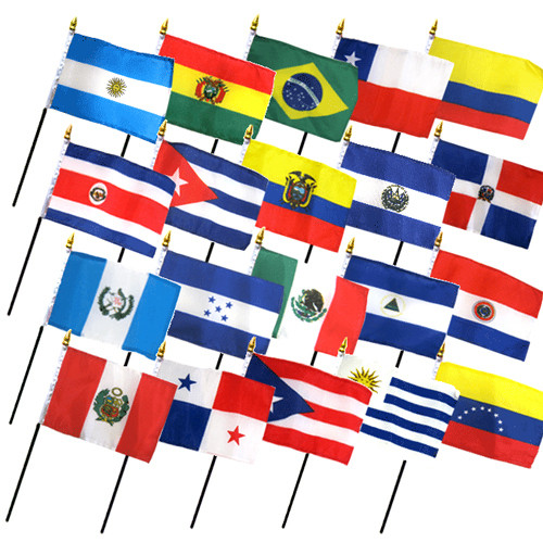 An image of a group of national flags
