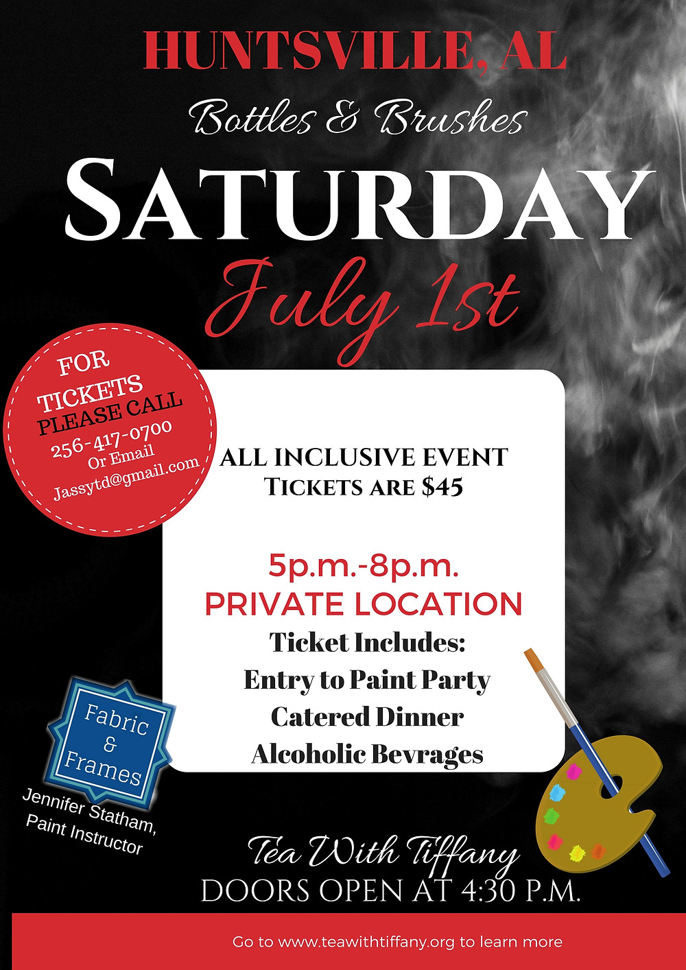 Please Join us on Saturday July 1st for our 2nd Paint Party Event!!!!